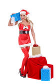 Christmas Santa Helper — Stock Photo