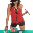 Stock Photo: Sexy Poker Player