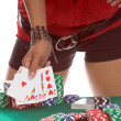 Sexy Poker Player — Stock Photo