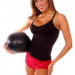 Sexy Medicine Ball Workout — Stock Photo