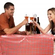 Bistro Couple — Stockfoto