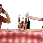 Upset Bistro Couple — Stock Photo