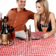 Bistro Couple — Stock Photo