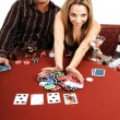All In Texas Hold Um - Stock Photo