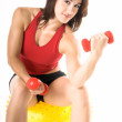 Free Weight Work Out — Stock Photo #6738169