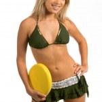 Bikini Frisbee — Stock Photo