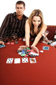 All In Texas Hold Um — Stock Photo