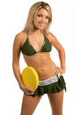 Bikini Frisbee — Stock Photo
