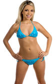 Blue Bikini — Stock Photo
