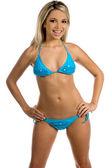 Blue Bikini — Stock Photo