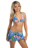 Floral Bikini — Stock Photo
