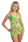 Green Tankini — Stock Photo