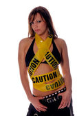 Caution Hottie! — Stock Photo
