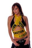Caution Hottie! — Stock Photo