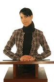 Business Woman At Podiem — Stock Photo