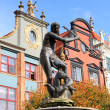 Fountain of the Neptune in Gdansk - Stock Photo