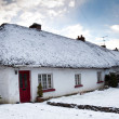 Cottage house at winter, Ireland — Stock Photo