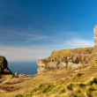 castle at cliffs of moher — Stock Photo