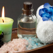 Royalty-Free Stock Photo: Spa still life with essential oil,stones and towel