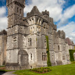 Medieval Ashford castle and gardens - Co. Mayo - Stock Photo
