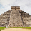 Kukulcan Pyramid in Chichen Itza - Stock Photo