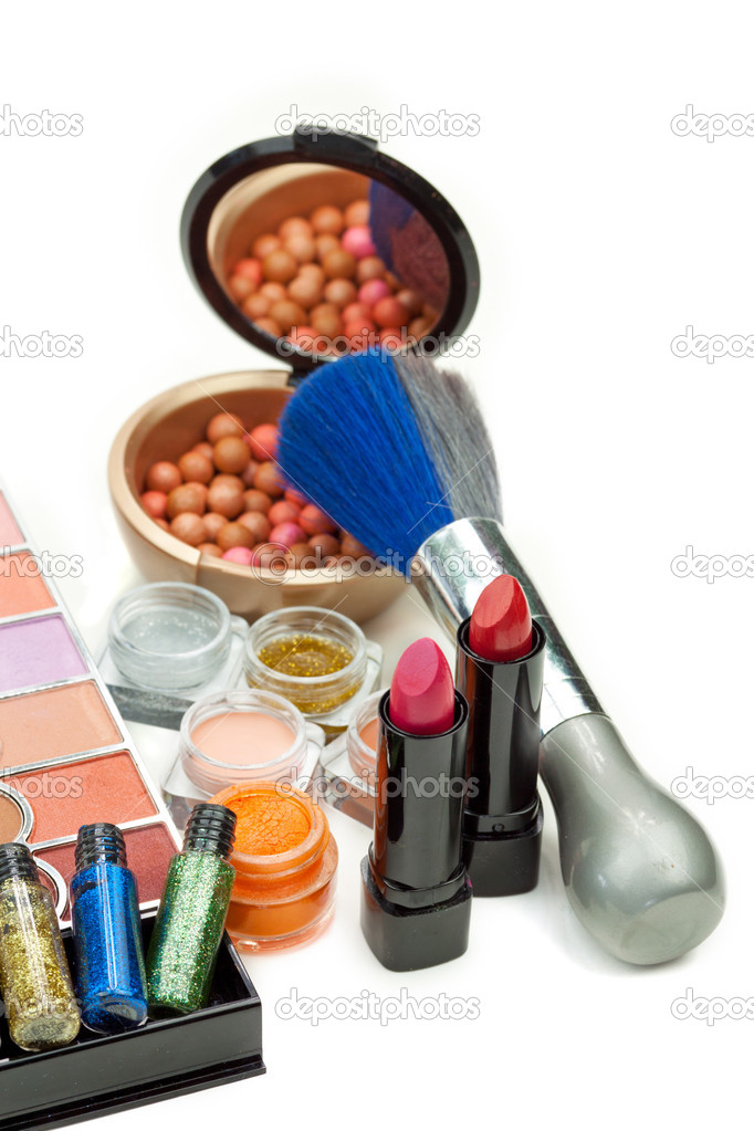 Cosmetics set isolated on white background  Stock Photo #6637077