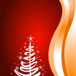 Red Christmas template — Stock Vector
