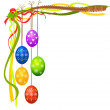 Colorful easter eggs - Image vectorielle