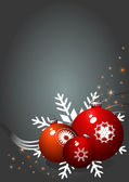 Vánoční dárek stránka — Stock vektor