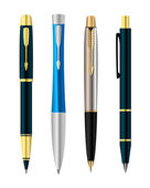 Vector illustration of set colorful pens — Stock Vector