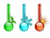Termometre vektör — Stok Vektör