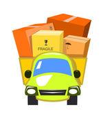 Vector delivery truck — Stock Vector
