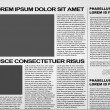 Newspaper vector — Stock vektor