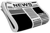 Newspaper vector — Stock Vector