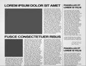 Gazete vektör — Stok Vektör