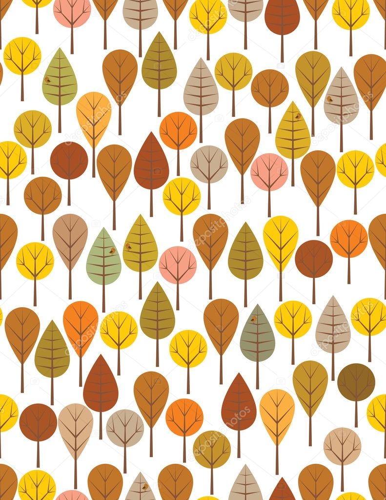 Brown woods seamless pattern for kids   Stock Vector #5391936