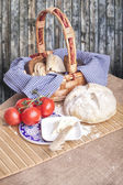 Rustic country kitchen — Stock Photo