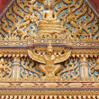 Decor on a thai buddhist temple — Stock Photo