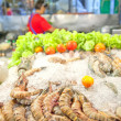Large king prawns - Stock Photo