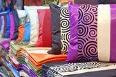 Silk cushions — Stock Photo