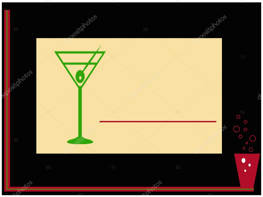 Summer drink coctail party invitation card — Stock Photo #5384638
