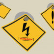 Royalty-Free Stock Photo: High voltage dangerous tables