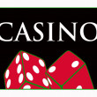 Casino red dices - Stock Photo