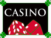 Casino red dices — Stock Photo