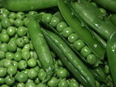 Fresh peas — Stock Photo