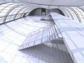走廊的体系结构 — 图库照片