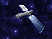Satellite - Starfield Background — Stock Photo