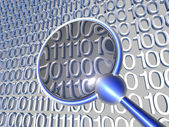 Inspecting Data — Stock Photo