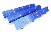Solar panel farm — Stock Photo