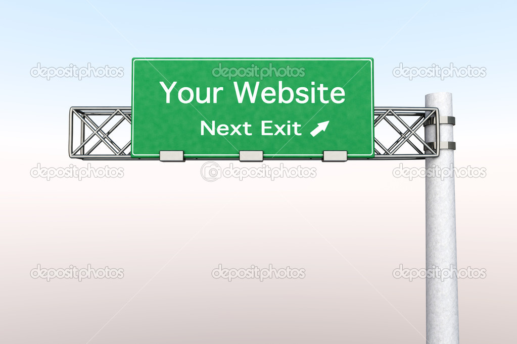3D rendered Illustration. Highway Sign next exit to the Airport.    Stock Photo #5514846